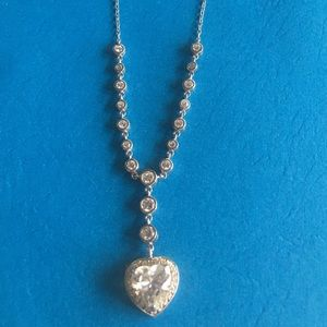 Jewelry - Bloomingdales Sterling Silver Heart Necklace NWT